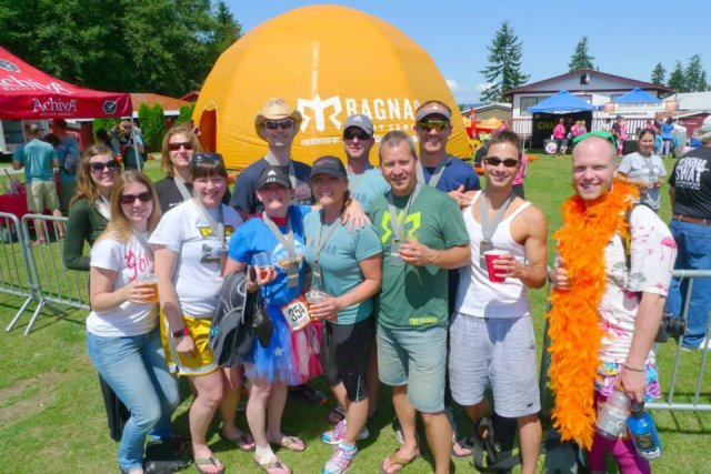 Team photo of our 2012 Ragnar Northwest Passage relay team. Suzanne ran the last leg in a tutu.