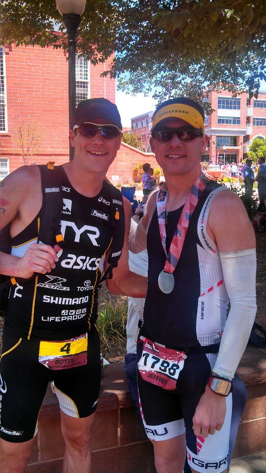 Andy Potts - super awesome guy, fastest swimmer in the Ironman series, and former World Champion - took the time to take a picture with me. So very cool.