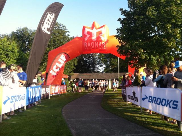 The starting line in Blaine, WA. Where the 196 mile journey begins!