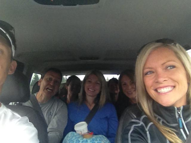 See how happy we look here in Van 2? On the road, caffeinated, and ready to go have some fun!