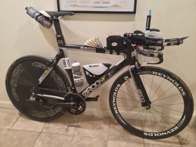 The Rocket Bike with a modified race day setup suited to altitude, course conditions, and all the climbs.